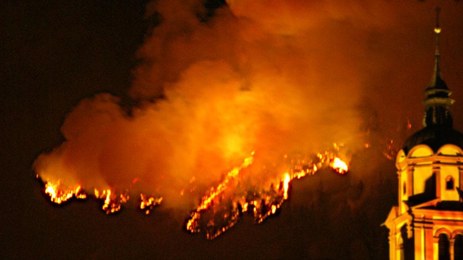 Feuer in der Nacht