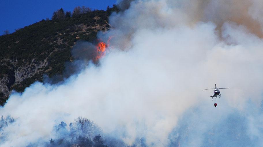 Waldbrand oberhalb von Absam 2